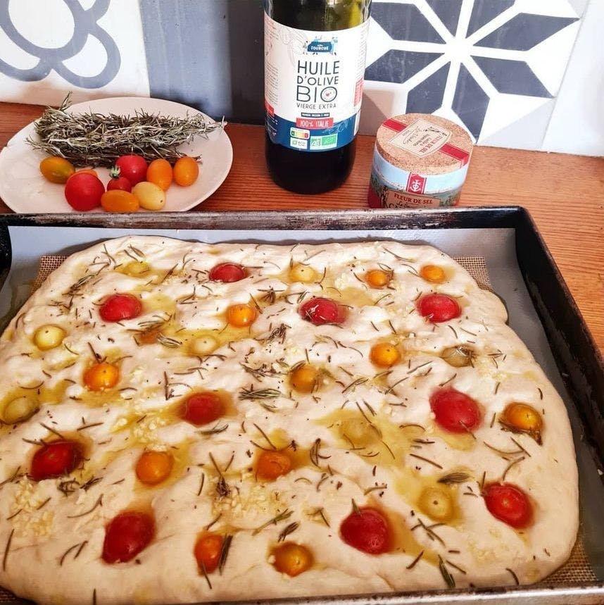 foccacia tomates romarin