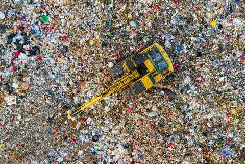 décharge de déchets