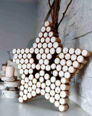 Sculpture étoile bouchon de liège