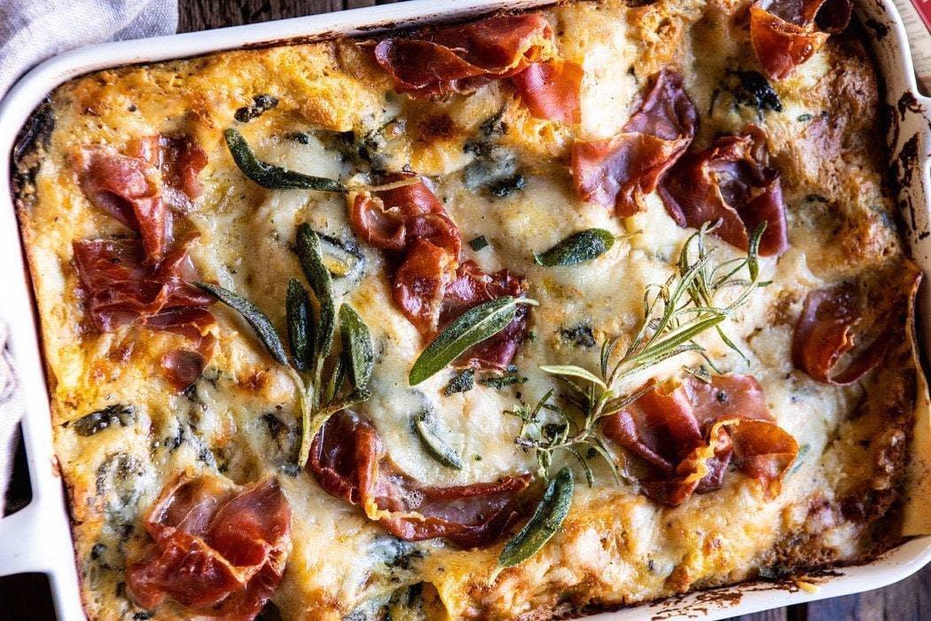 Lasagnes butternut et épinards
