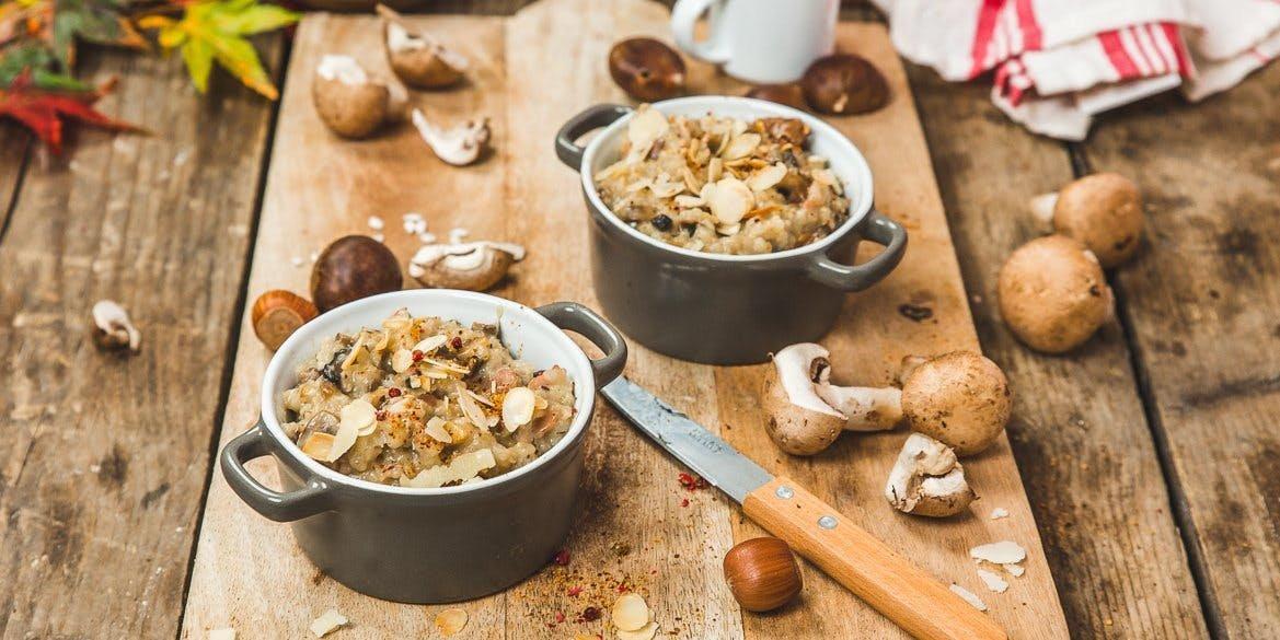 Risotto champignons châtaigne